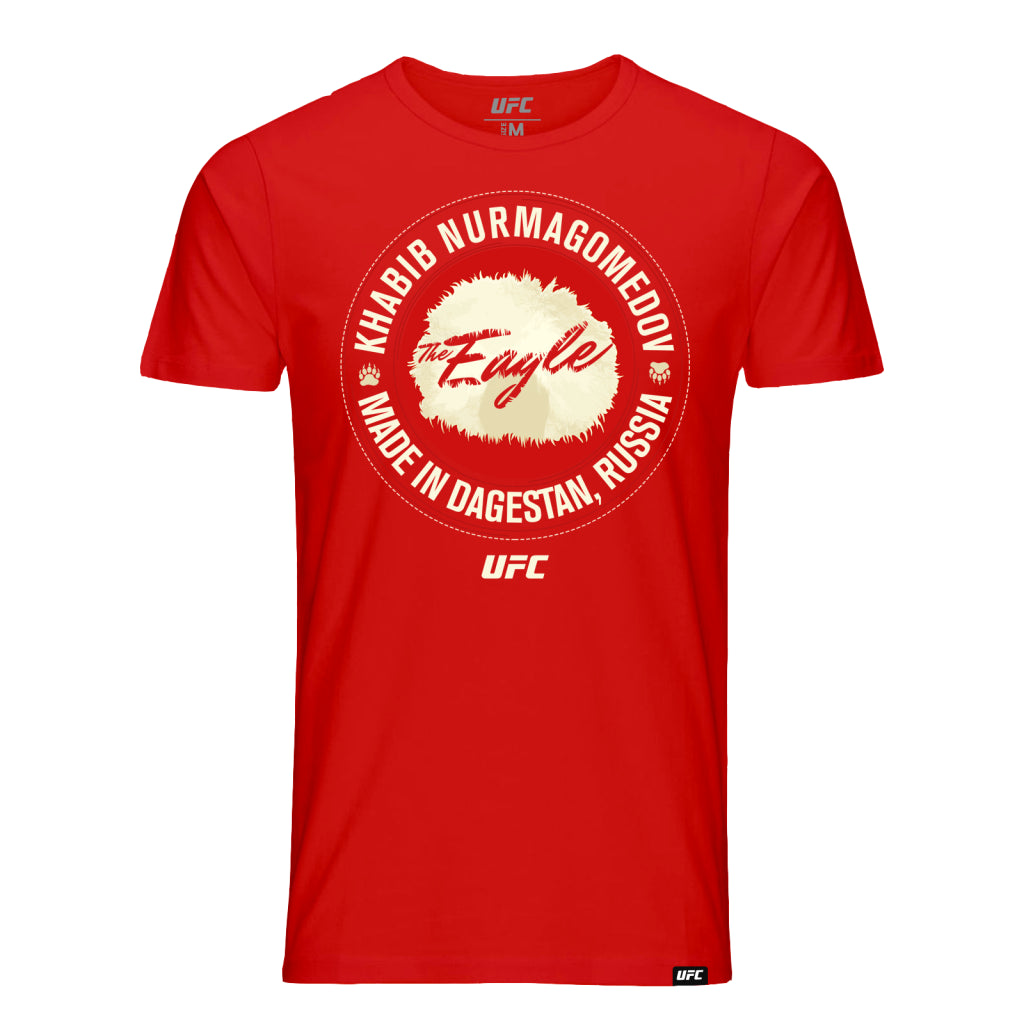 "UFC Khabib ""The Eagle"" Nurmagomedov Made in Dagestan Tee-Red"