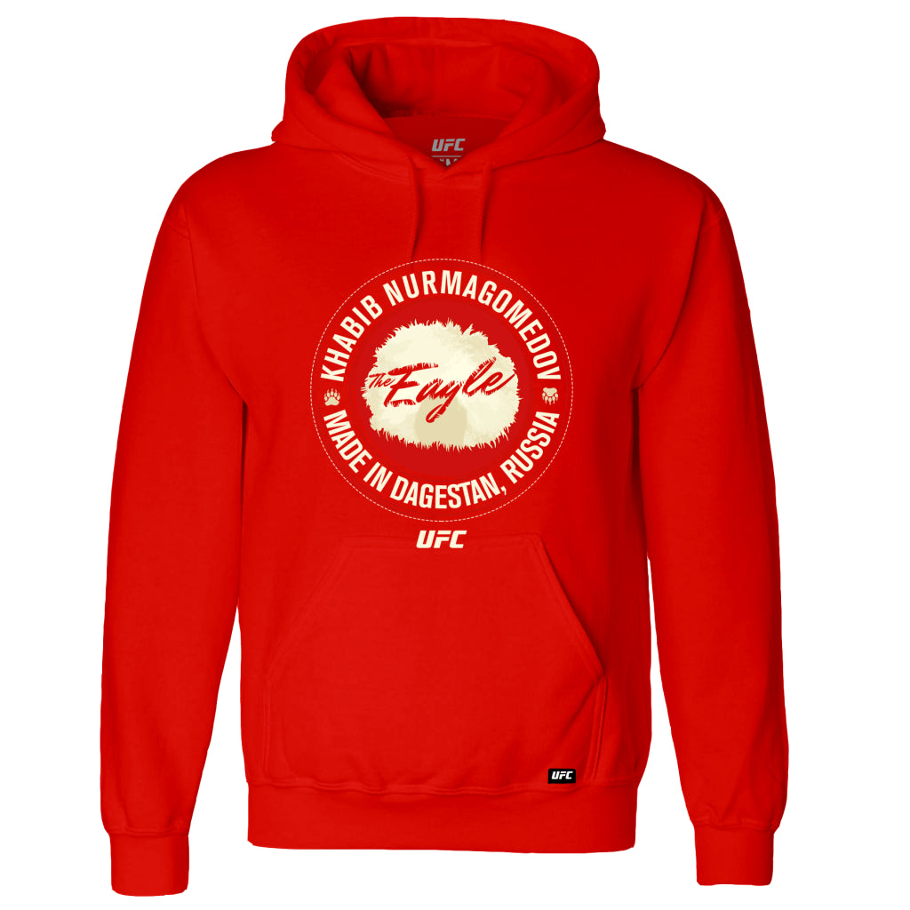 "UFC Khabib ""The Eagle"" Nurmagomedov Made in Dagestan Hoodie-Red"