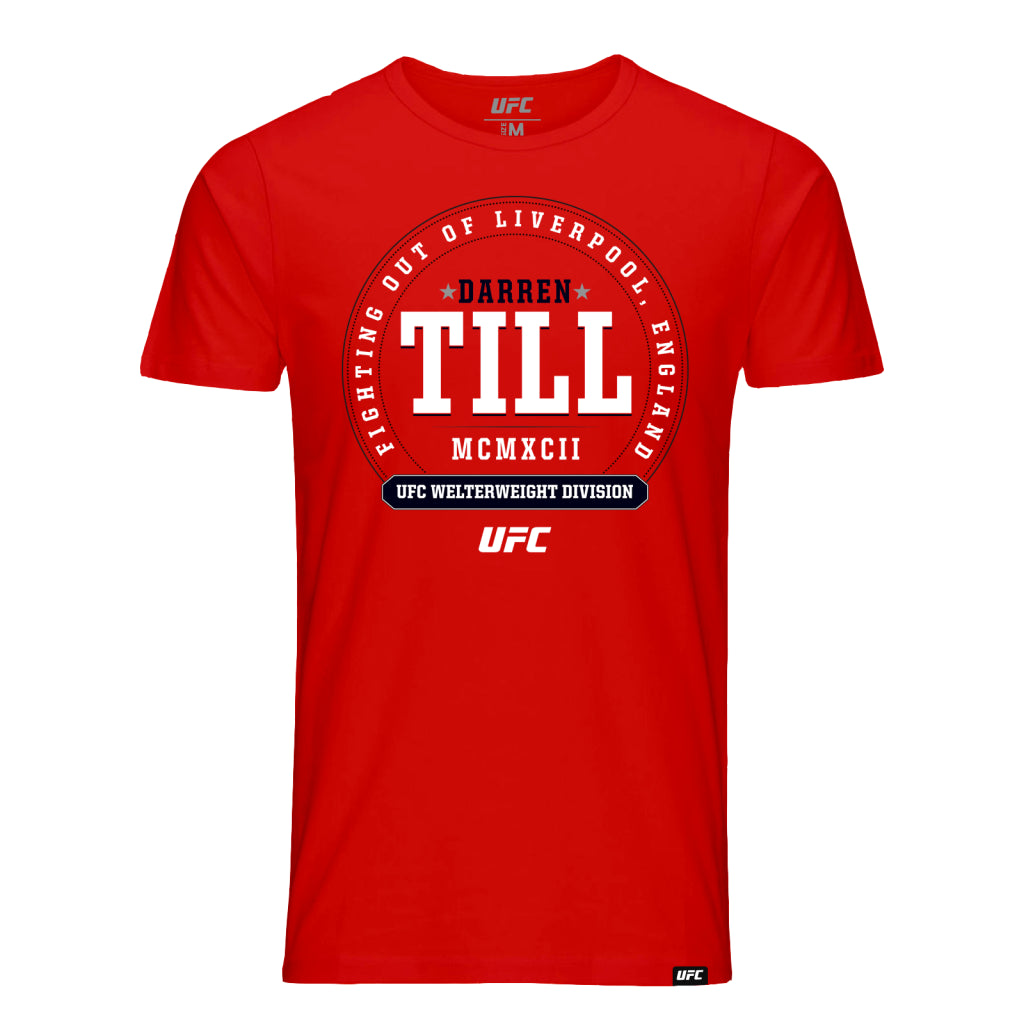 UFC Darren Till Crest Kid's T-Shirt - Red