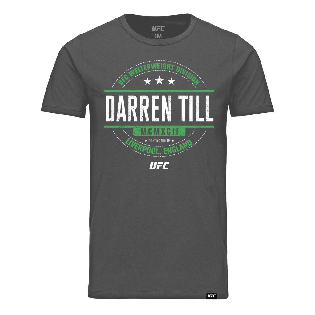 UFC Darren Till Distressed Graphic T-Shirt - Charcoal