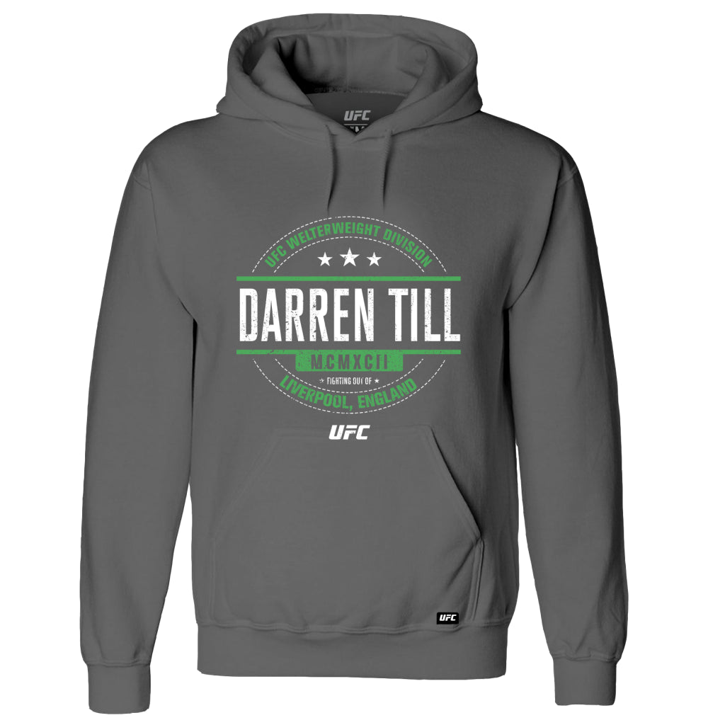 UFC Darren Till Distressed Graphic Hoodie - Charcoal