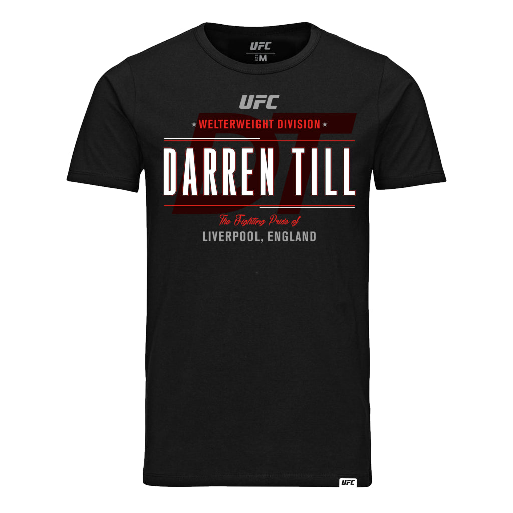 UFC Darren Till Fighting Pride of Liverpool Kid's T-Shirt - Black