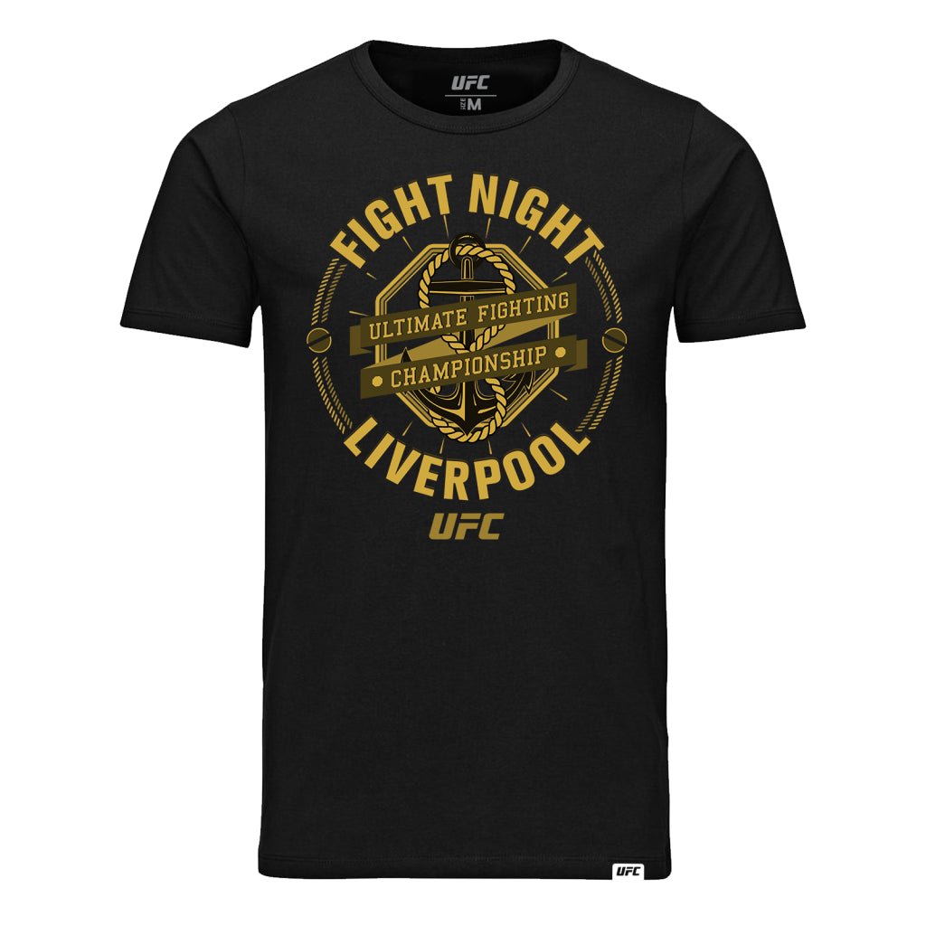UFC Fight Night Liverpool Graphic Tee-Black