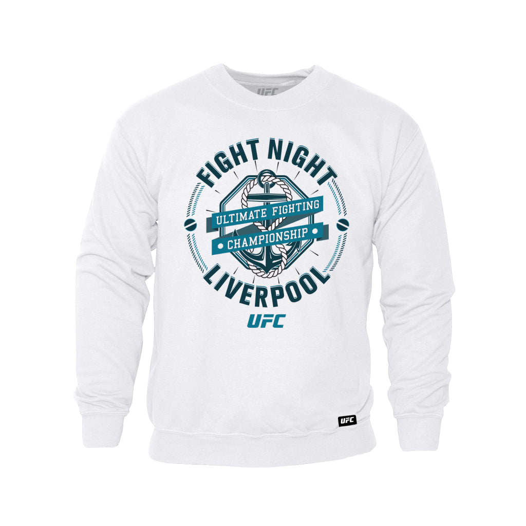 UFC Fight Night Liverpool Graphic Sweatshirt-White