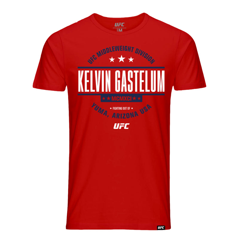 UFC Kelvin Gastelum Stamp T-Shirt - Red