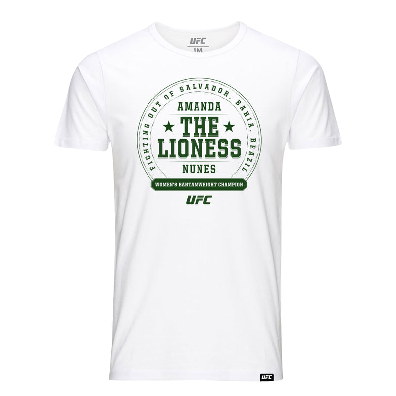 "UFC Amanda ""The Lioness"" Crest T-Shirt - White"