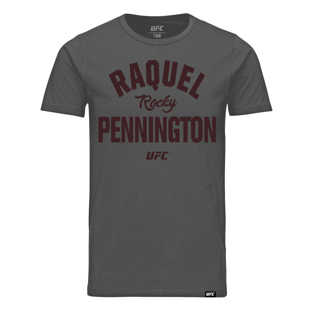 "UFC Raquel ""Rocky"" Pennington Old School T-Shirt - Charcoal"