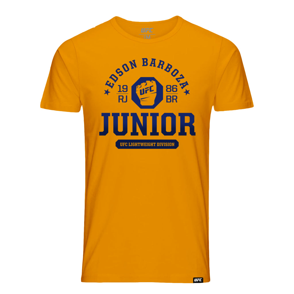 UFC Fight Night Edson Junior Barboza Octagon Fist Tee- Orange