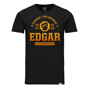 "UFC Fight Night Frankie ""The Answer"" Edgar Octagon Fist Tee- Black"