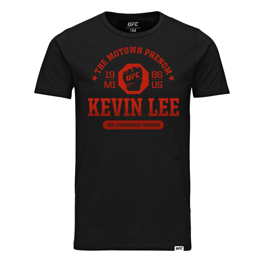 "UFC Fight Night Kevin ""The Motown Phenom"" Lee Octagon Fist Tee- Black"
