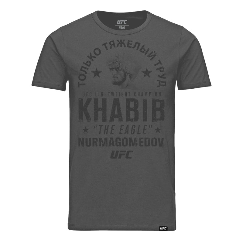 "UFC Khabib ""The Eagle"" Nurmagomedov Hard Work T-Shirt - Charcoal"