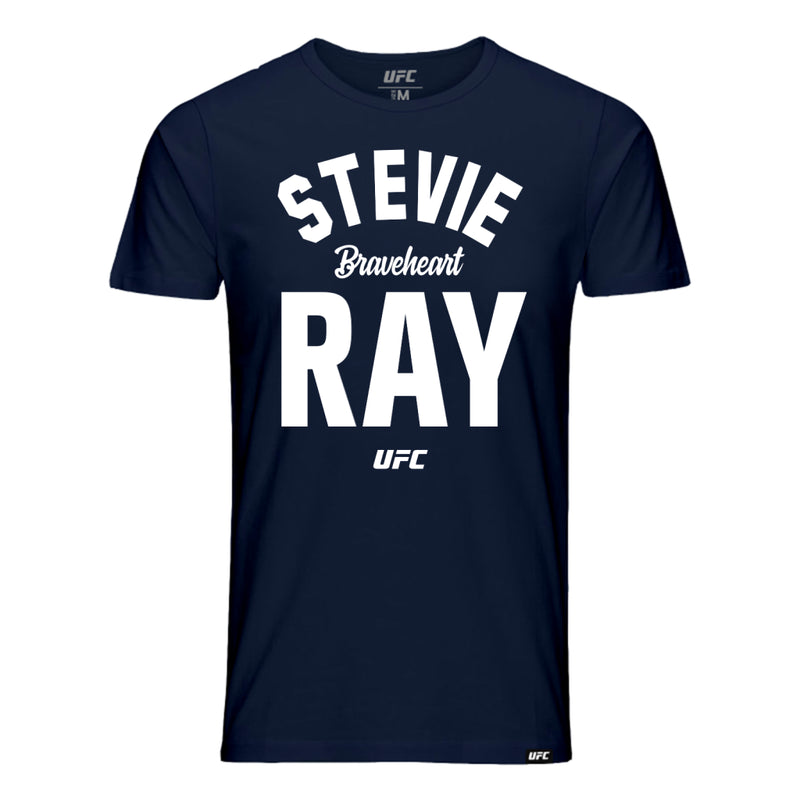 "UFC Stevie ""Braveheart"" Ray Old School T-Shirt - Navy"