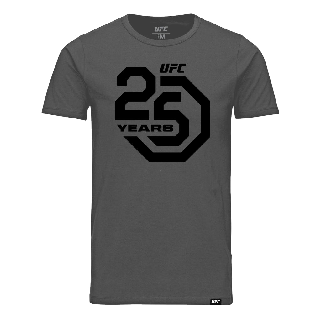 UFC 25th Anniversary Large Logo Tee - Charcoal