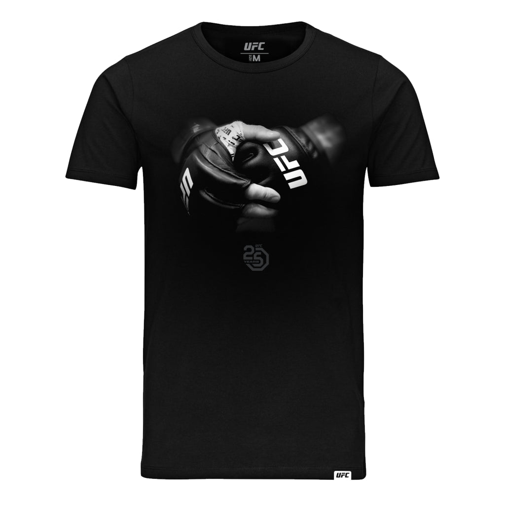 UFC 25th Anniversary Octagon Glove Logo Tee - Black