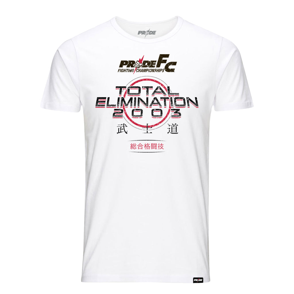PRIDE FC Fighting Championships Total Elimination 2003 T-Shirt-White