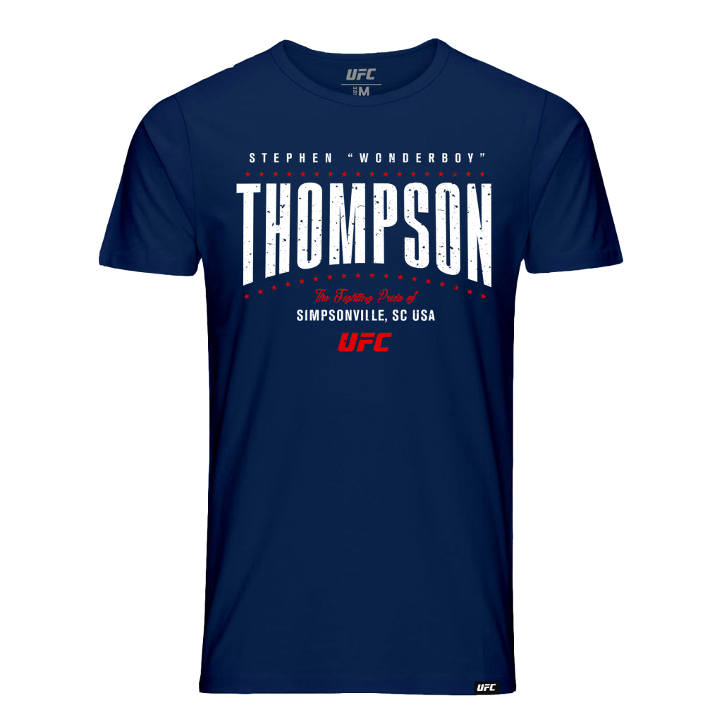 "UFC Stephen ""Wonderboy"" Thompson Fighting Pride T-Shirt-Navy"