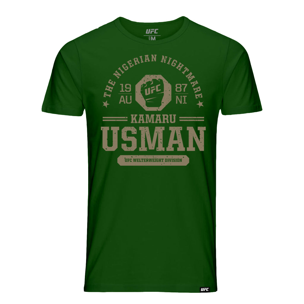 "UFC Fight Night Kamaru ""Nigerian Nightmare"" Usman Octagon Fist Tee- Green"