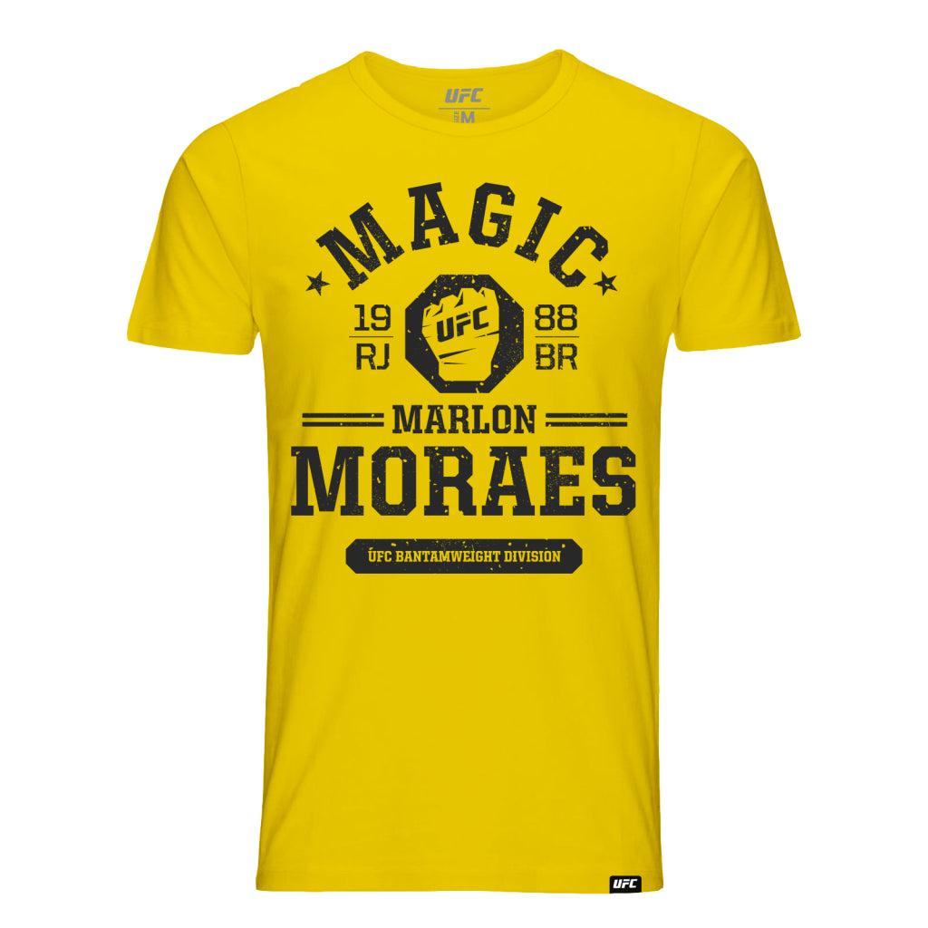 "UFC Fight Night Marlon ""Magic"" Moraes Octagon Fist Tee- Yellow"