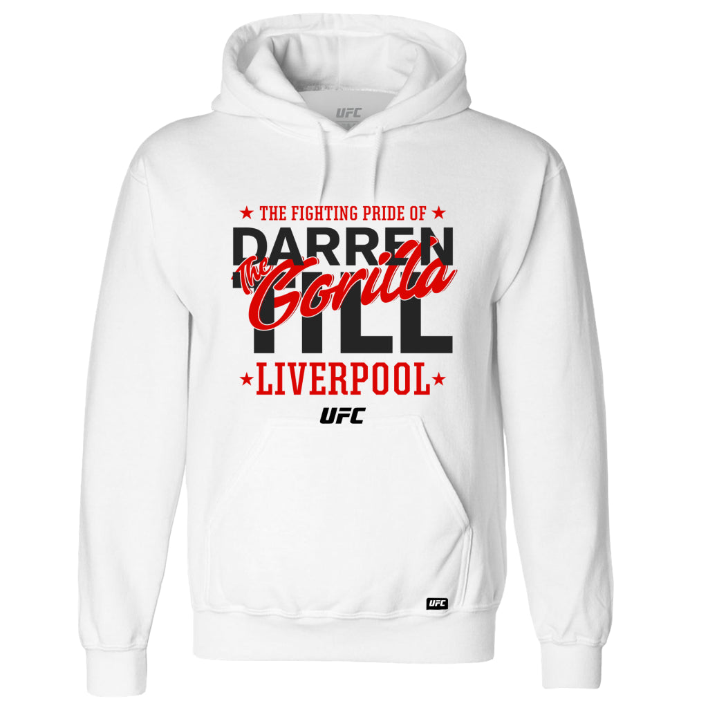 UFC Darren Till Fighting Pride of Liverpool Hoodie - White