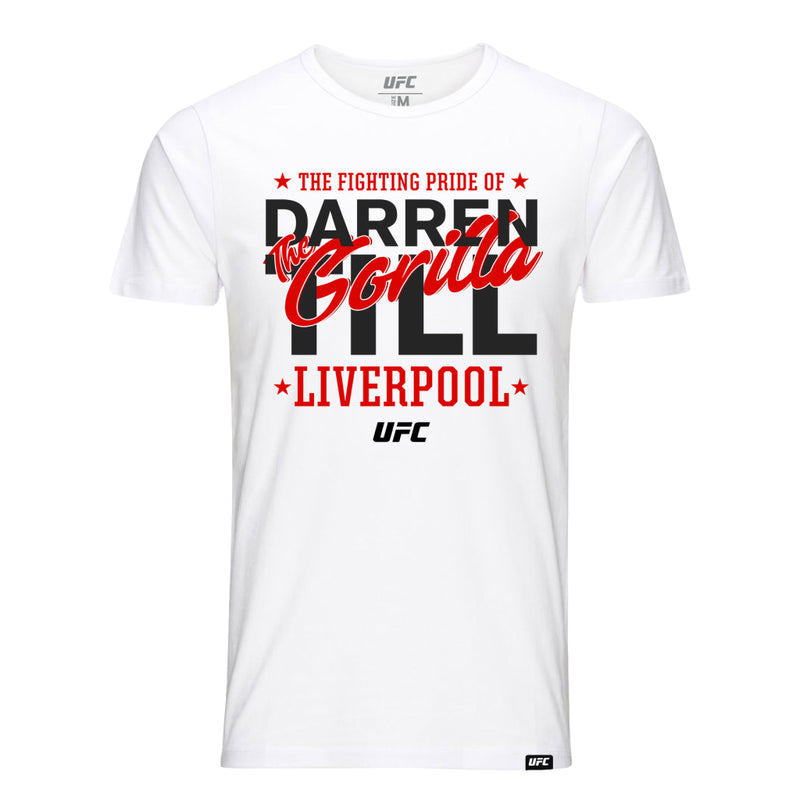 UFC Darren Till Fighting Pride of Liverpool T-Shirt - White