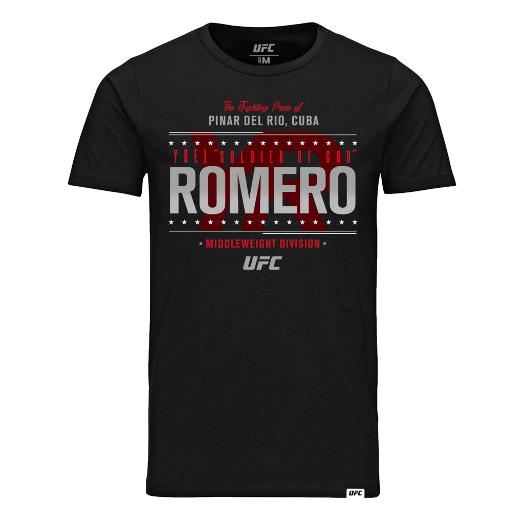 "UFC Yoel ""Soldier Of God"" Romero Fighting Pride T-Shirt - Black"