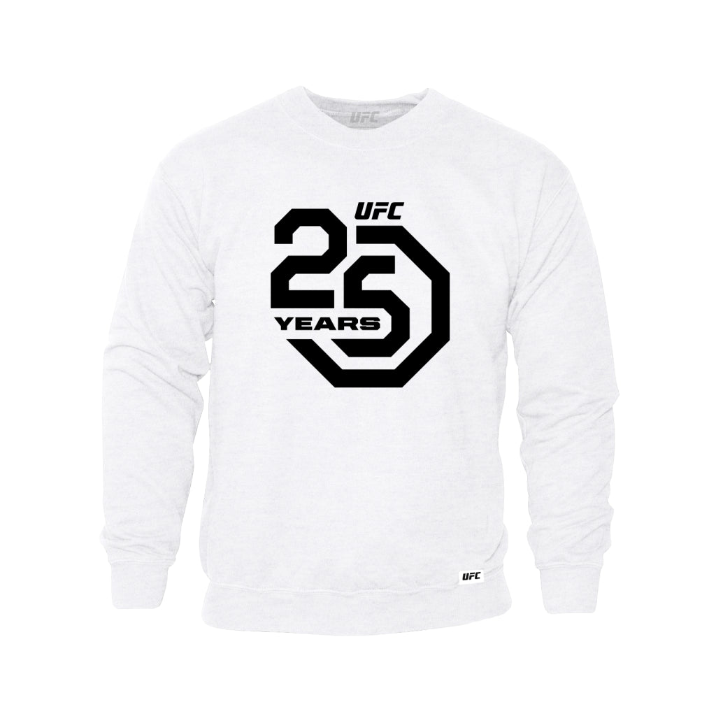 UFC 25th Anniversary Large Logo Sweatshirt - White