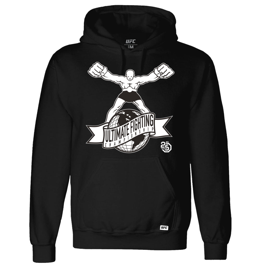 "UFC 25th Anniversary ""Ulti-Man"" White Logo Hoodie - Black"