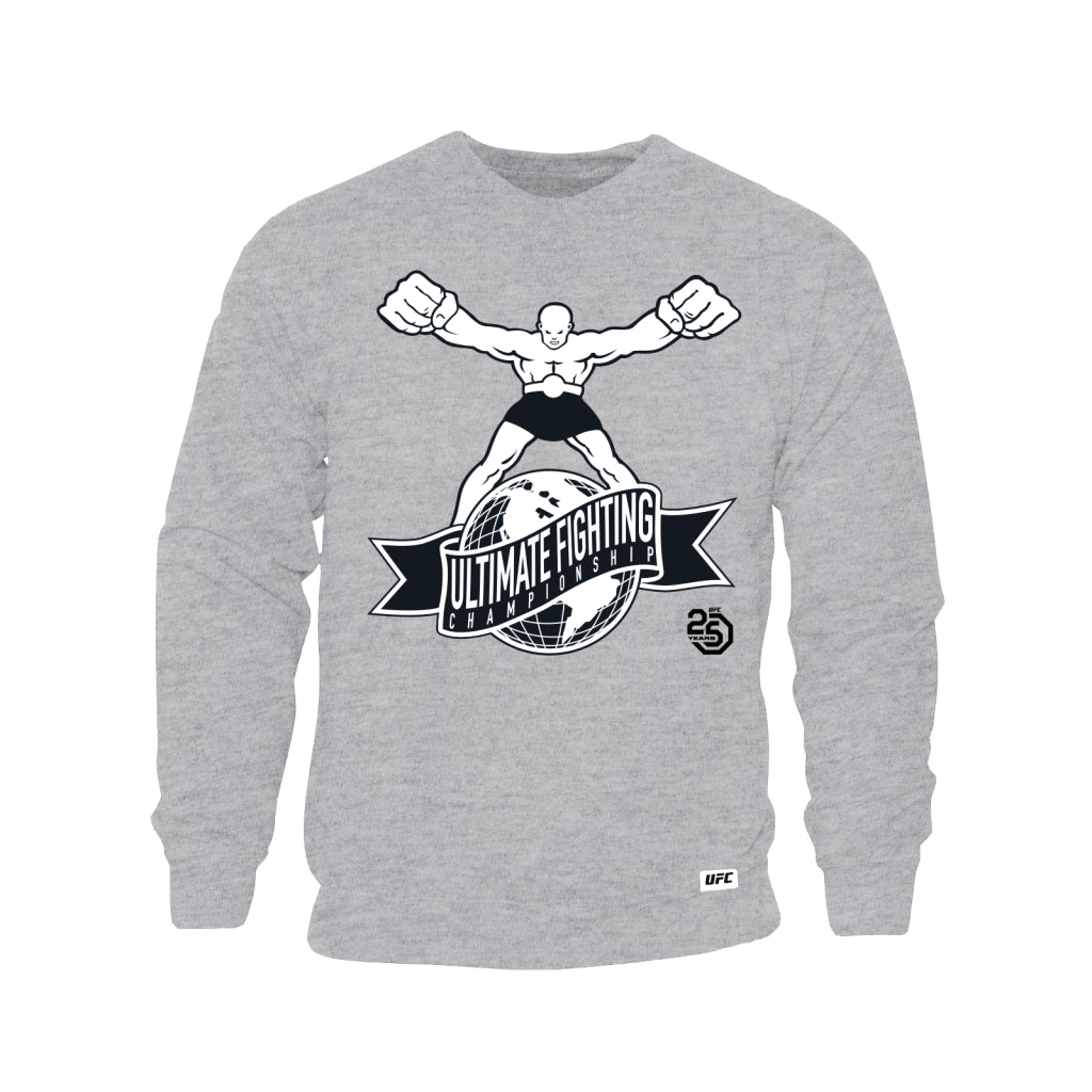 "UFC 25th Anniversary ""Ulti-Man"" Logo Sweatshirt - Grey"
