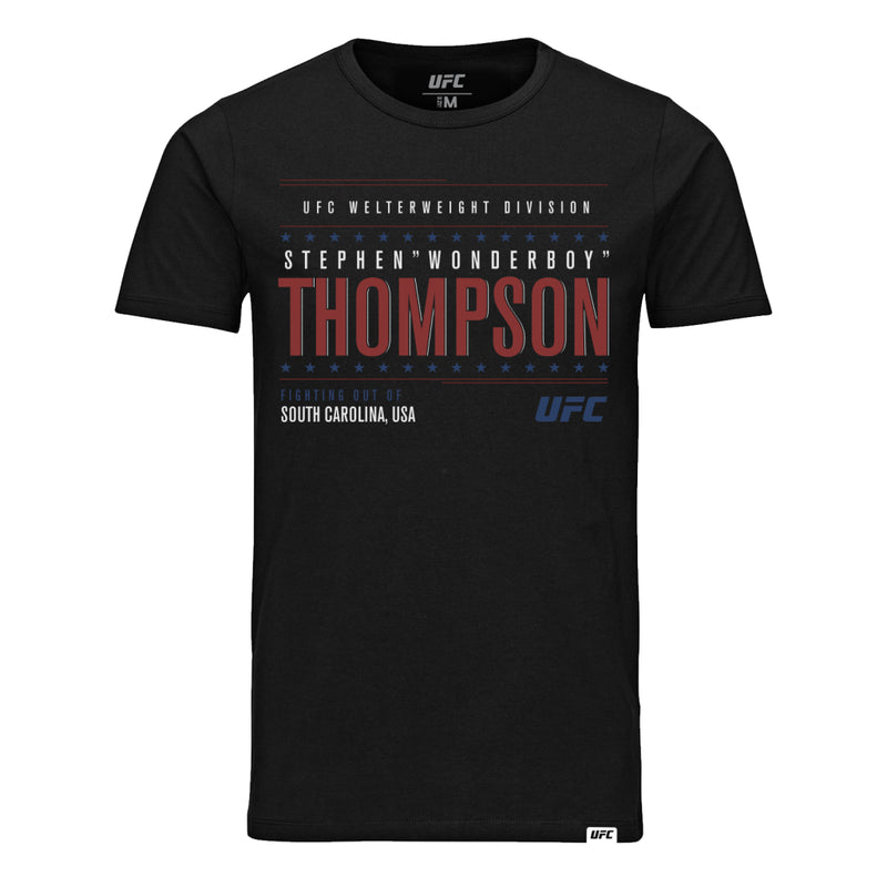 "UFC Stephen ""Wonderboy"" Thompson Graphic T-Shirt-Black"