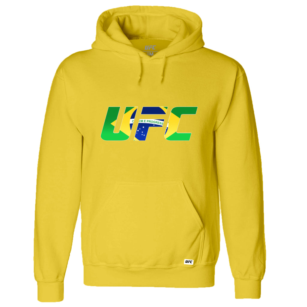 UFC Brazil Country Logo Hoodie -Yellow