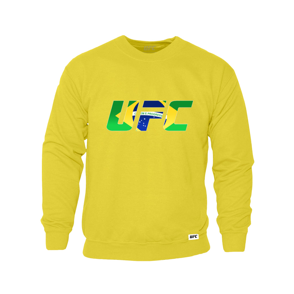 UFC Brazil Country Logo Sweatshirt -Yellow