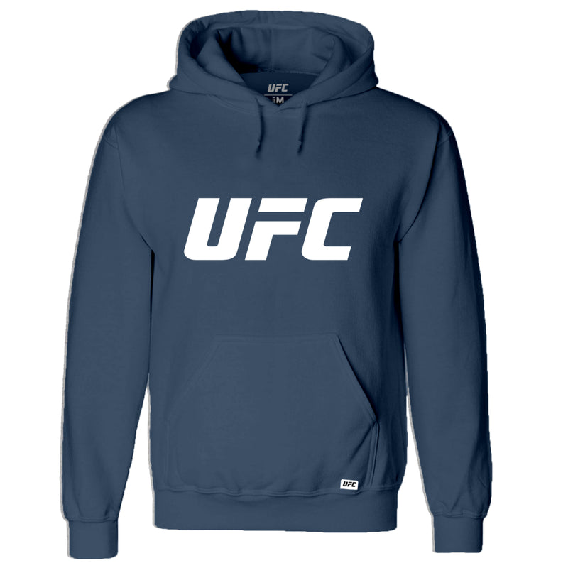 UFC Classic White Logo Hoodie -Airforce Blue