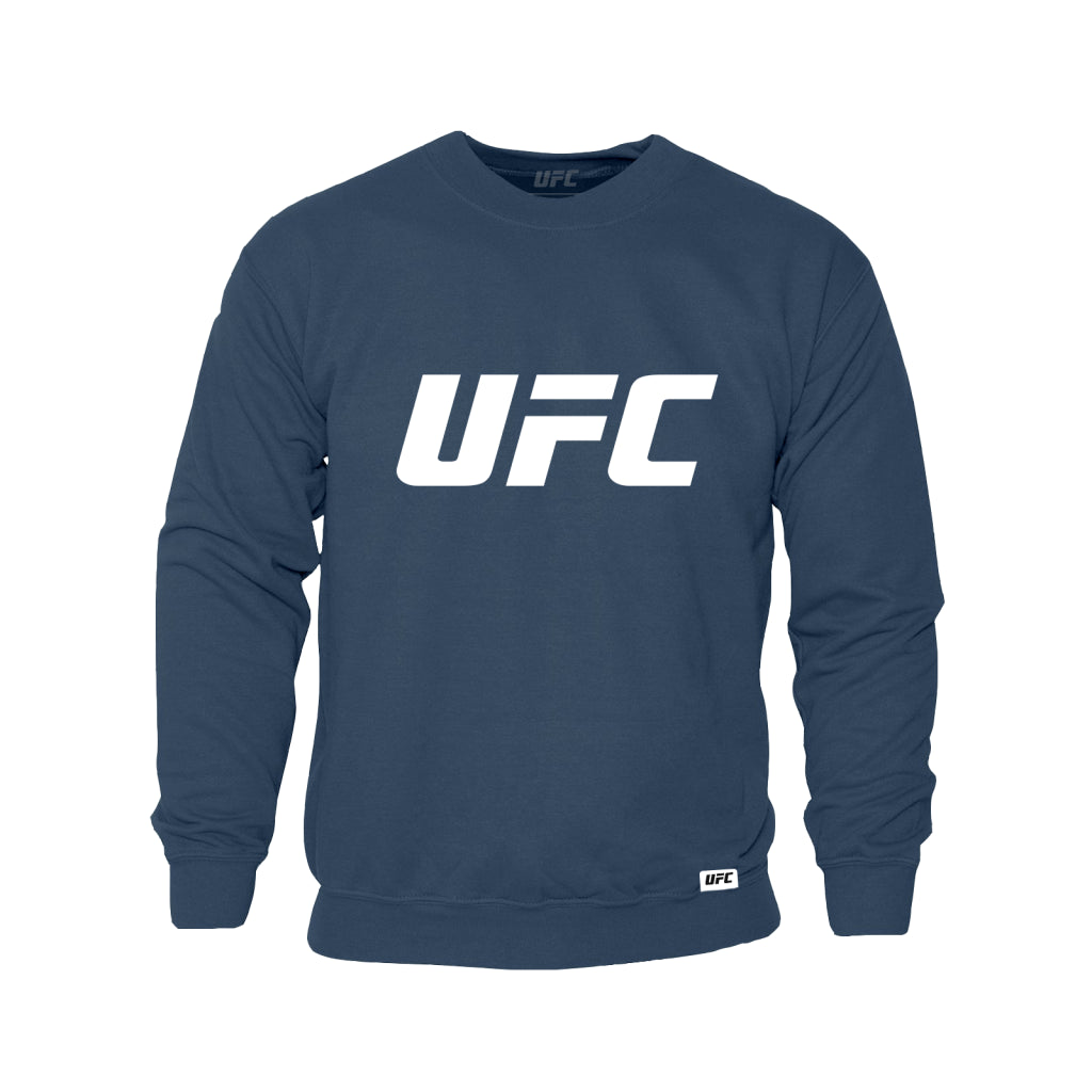 UFC Classic White Logo Sweatshirt -Airforce Blue