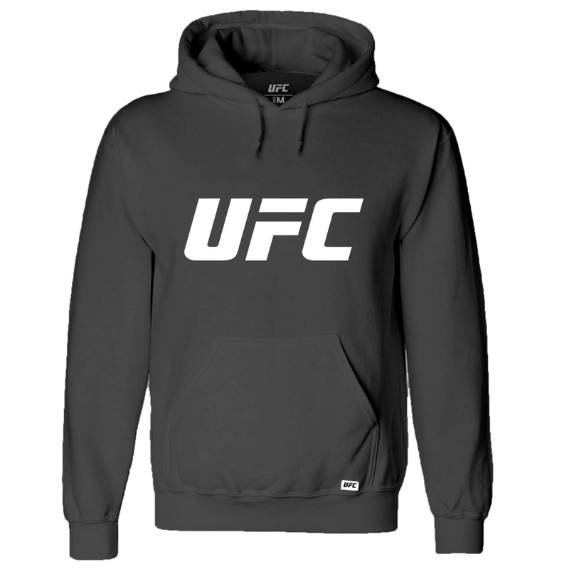 UFC Classic White Logo Hoodie -Charcoal