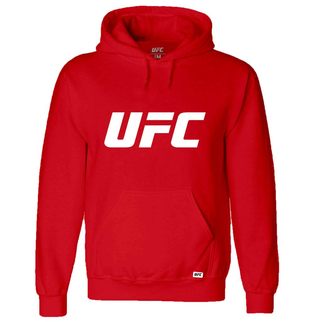 UFC Classic White Logo Hoodie -Red