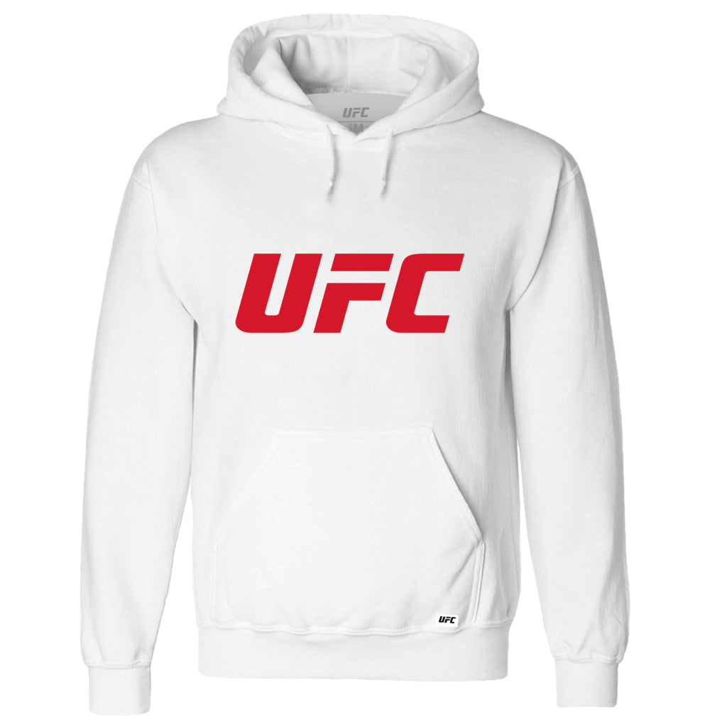 UFC Classic Red Logo Hoodie -White