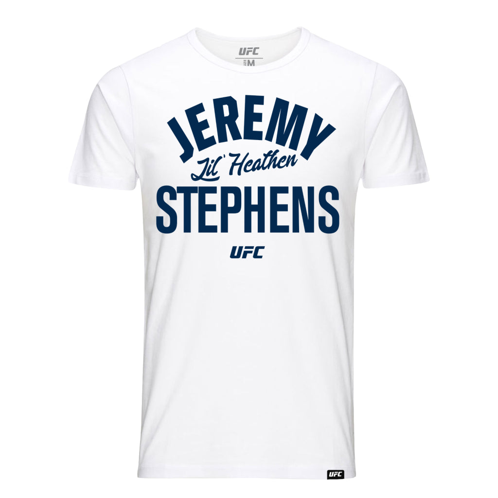 "UFC Jeremy ""Lil Heathen"" Stephens Old School T-Shirt-White"
