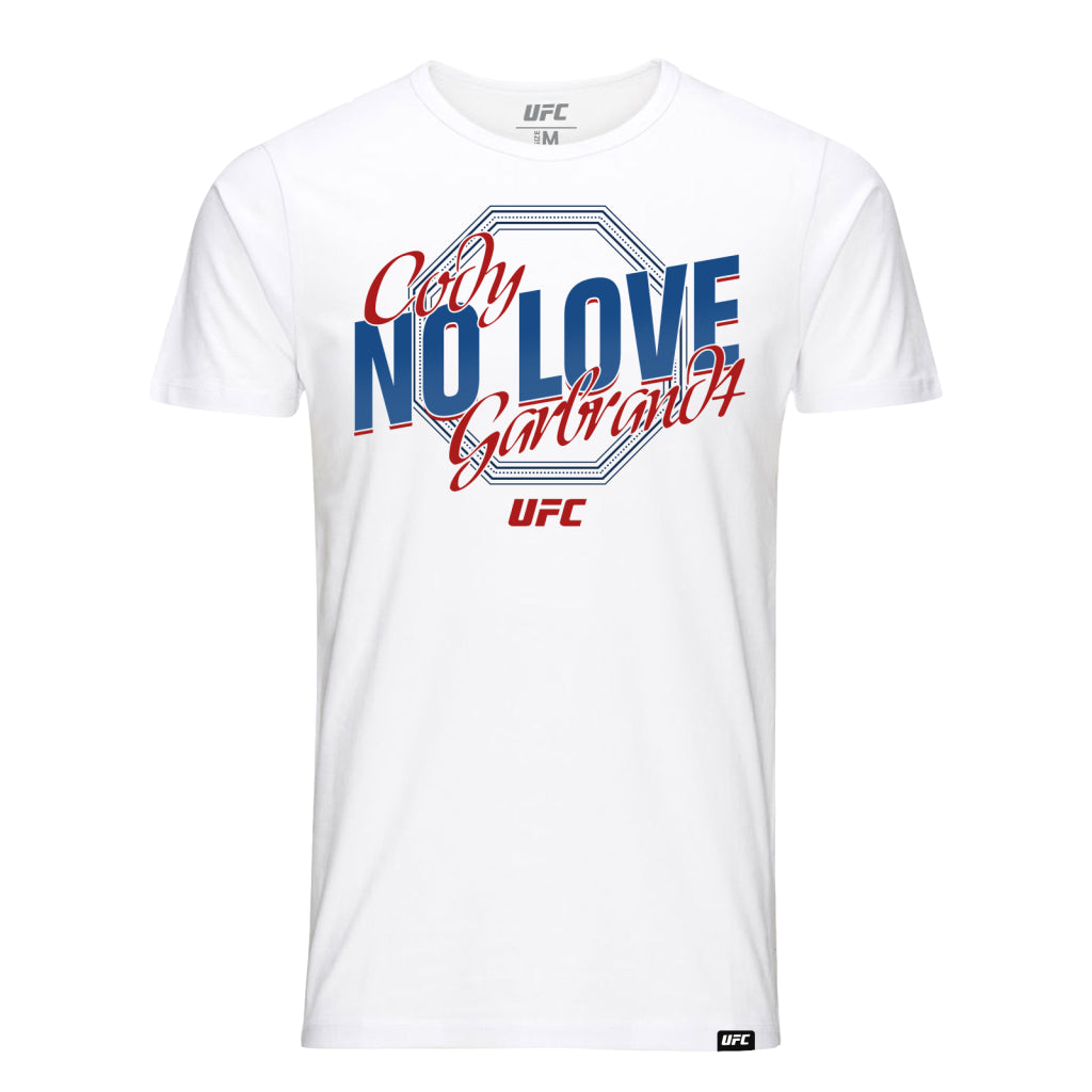 "UFC Cody ""No Love"" Garbrandt Octagon T-Shirt- White"