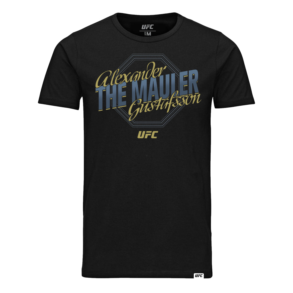 "UFC Alexander ""The Mauler"" Gustafsson Octagon T-Shirt- Black"
