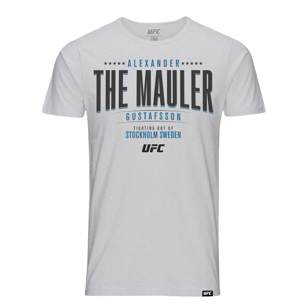 "UFC Alexander ""The Mauler"" Gustafsson Graphic T-Shirt- Grey"