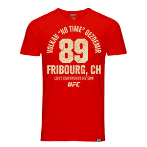 "UFC Volkan ""No Time"" Oezdemir Fribourg CH Est 89 T-Shirt- Red"