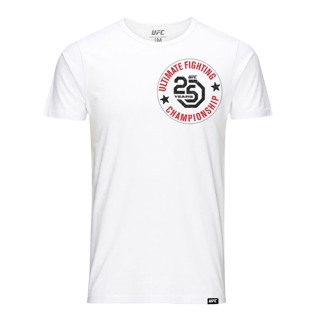 UFC 25th Anniversary Commemorative Stamp T-Shirt- White