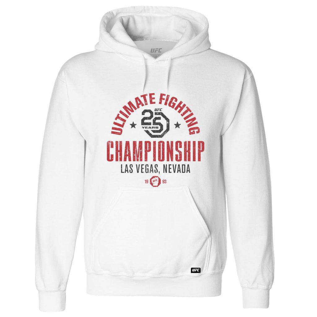 UFC 25th Anniversary Commemorative Stamp Hoodie- White