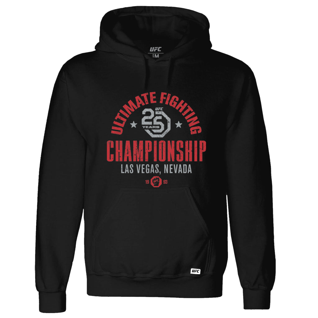 UFC 25th Anniversary Commemorative Vintage Hoodie- Black