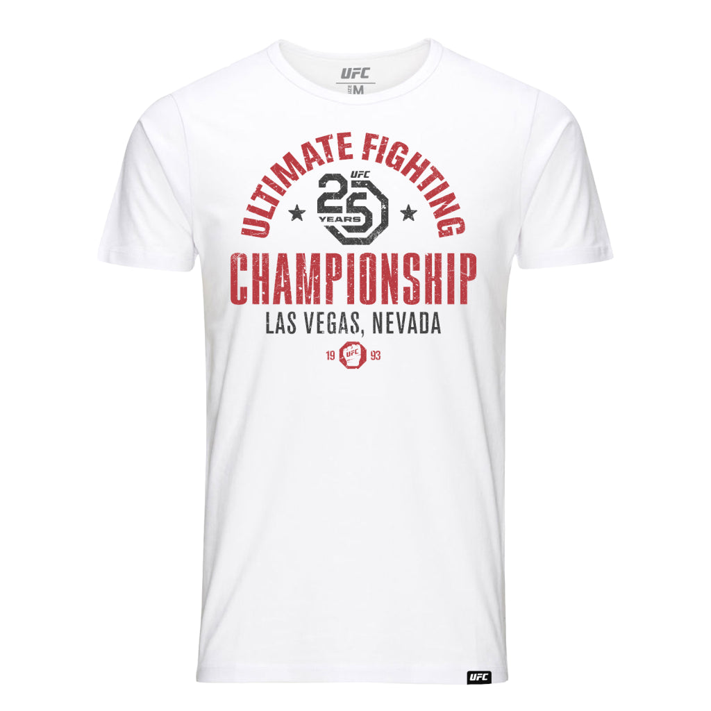 UFC 25th Anniversary Commemorative Vintage T-Shirt- White