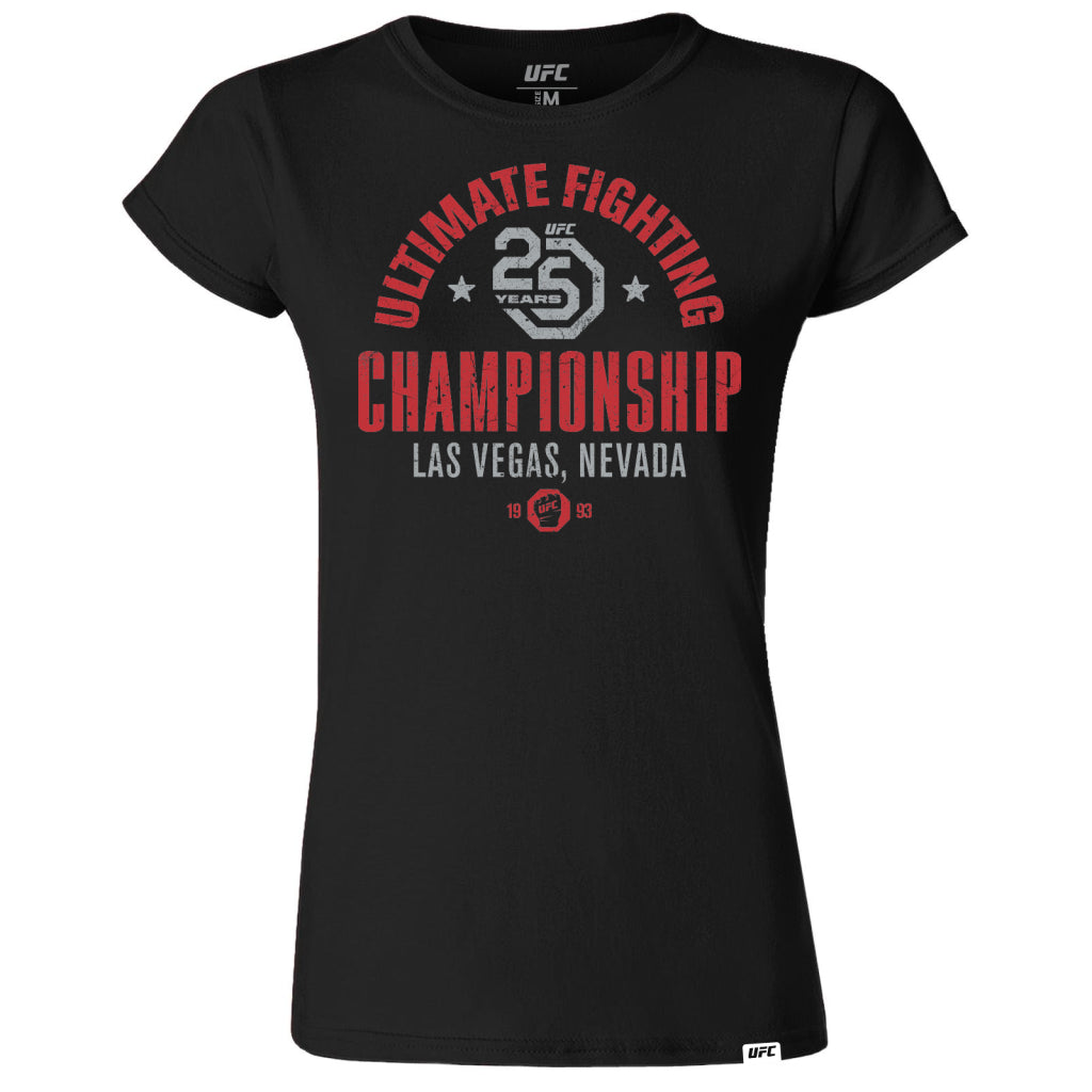 UFC 25th Anniversary Commemorative Vintage Women's T-Shirt- Black