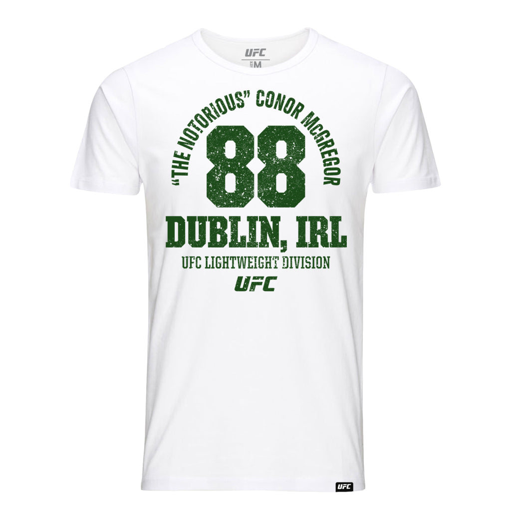 "The Notorious"" Conor McGregor Dublin Ireland Est 88 T-Shirt - White"