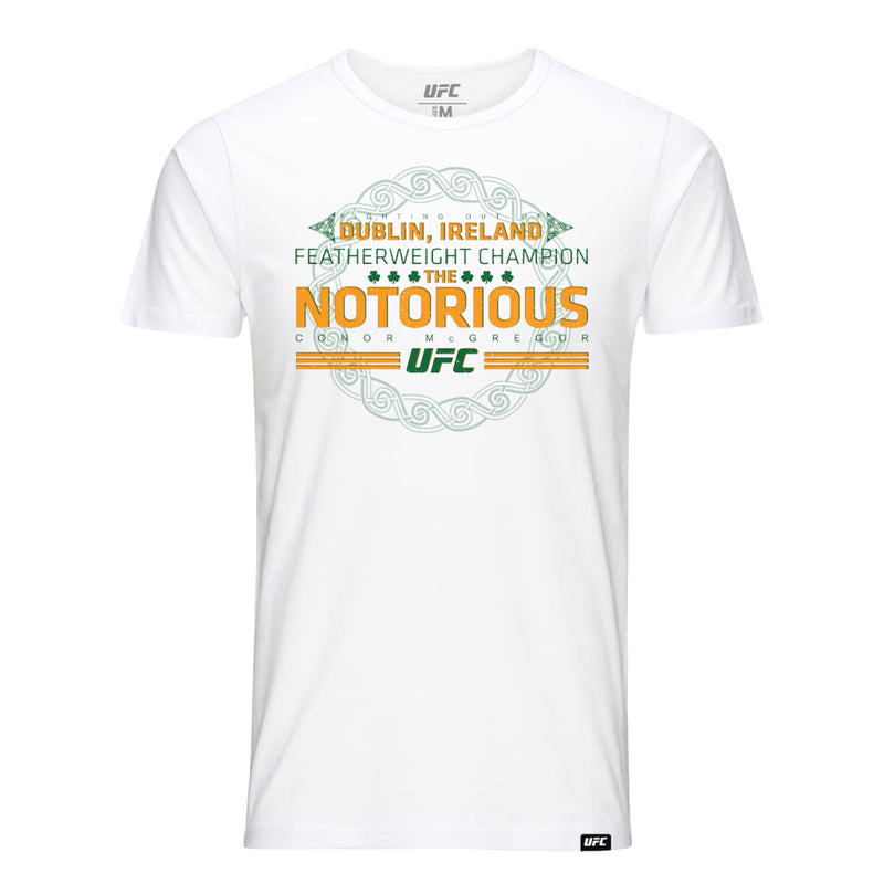 Conor McGregor Fighting out of Dublin T-Shirt [White]