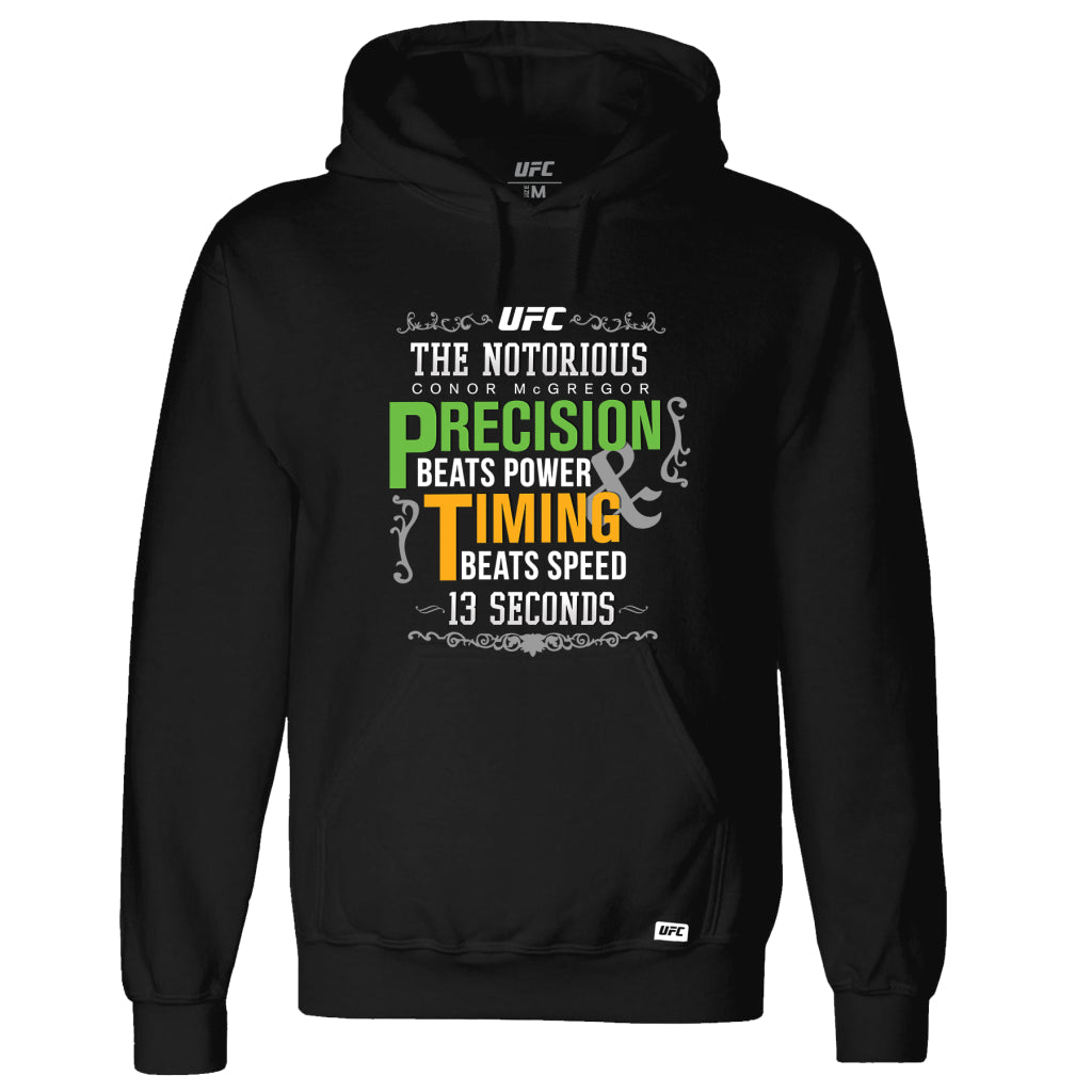 Conor McGregor 13 Seconds Quote Hoodie Black