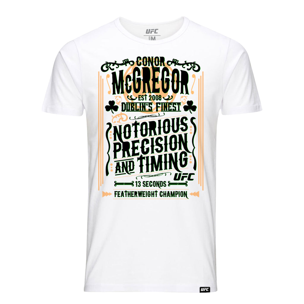 Conor McGregor Precision & Timing T-Shirt -White